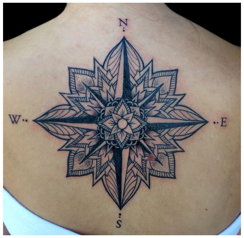 Compass Rose Chest Tattoo Google Search Ink Pinterest