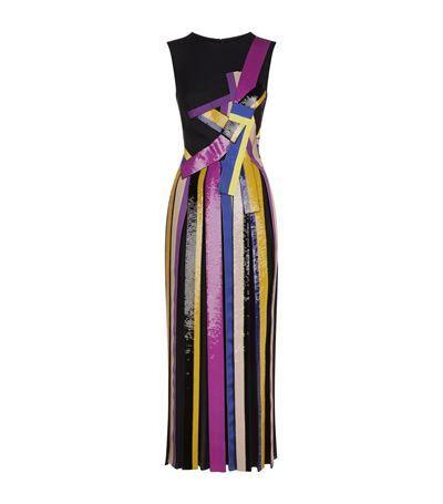 EMILIO PUCCI Sequined Striped Midi Gown. #emiliopucci #cloth #