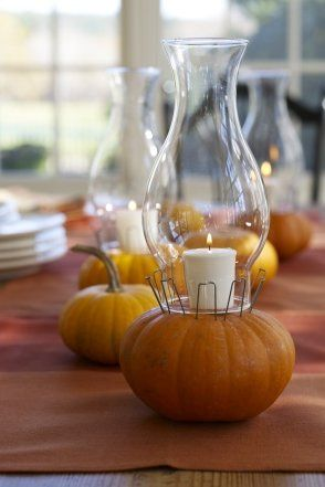Pumpkin Table lanterns #Pumpkin #Decorating Ideas #Fall - halloween pumpkin decorations
