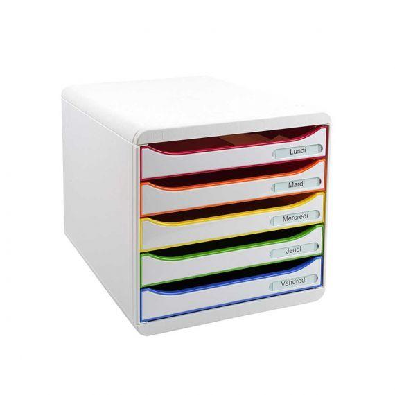 Rangement de bureau 5 tiroirs | Rangement, Tiroir, Rangement tiroir plastique