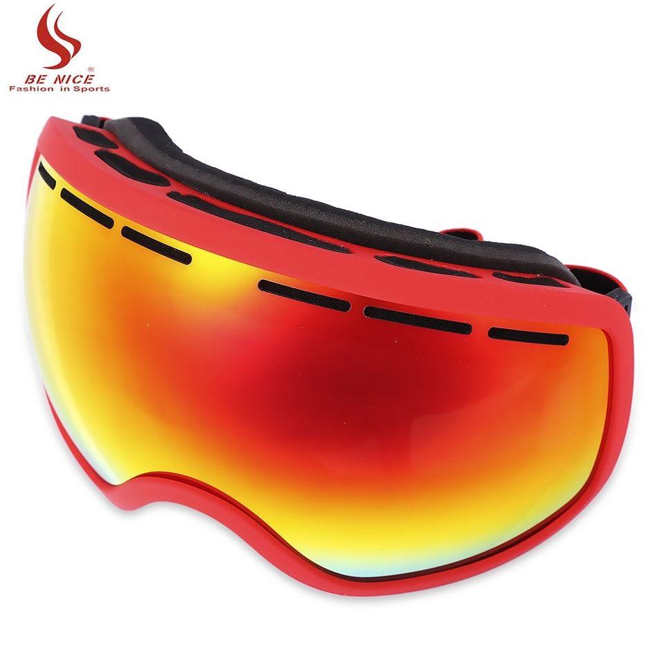 196460f257ea BENICE UV Protection Anti-fog Big Skiing Goggles Men Women Snowboarding  Glasses 5 Colors Ski