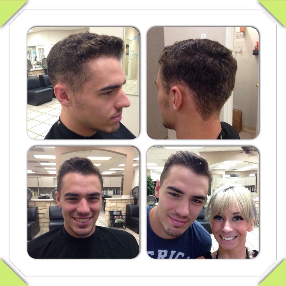 Men's cut for curly hair. Sebastian's micro web fiber does wonders!