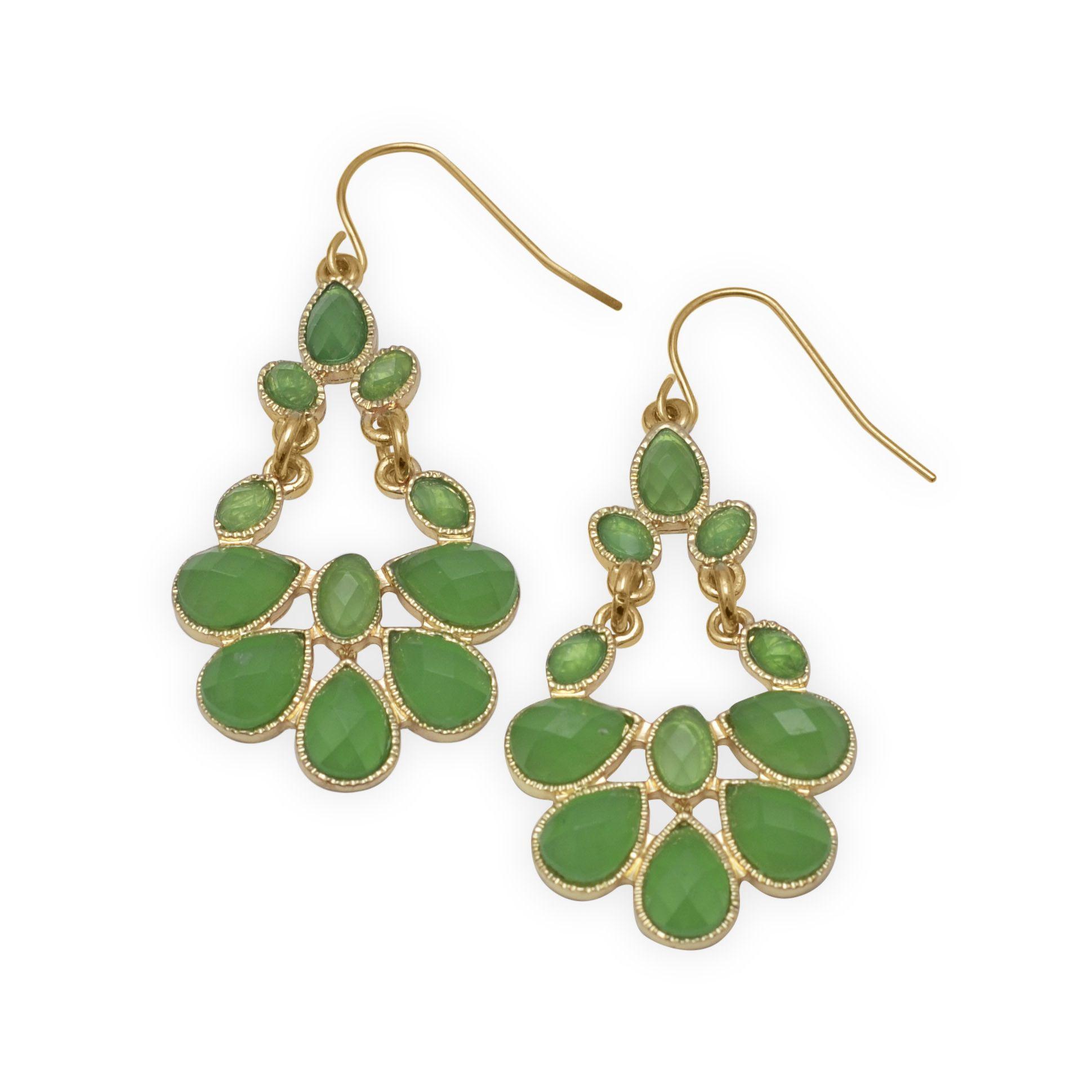 Candy Apple Green Fashion Earrings