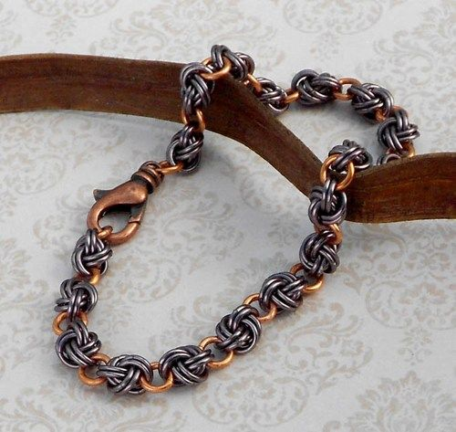Knotted Chain Mail Bracelet | theBlueKraken I really love this one                                                                                                                                                                                 More