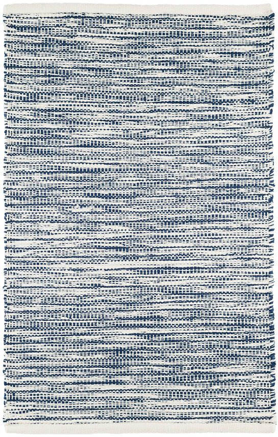Navy And White Threads With A Blanket Stitch Like Overlay