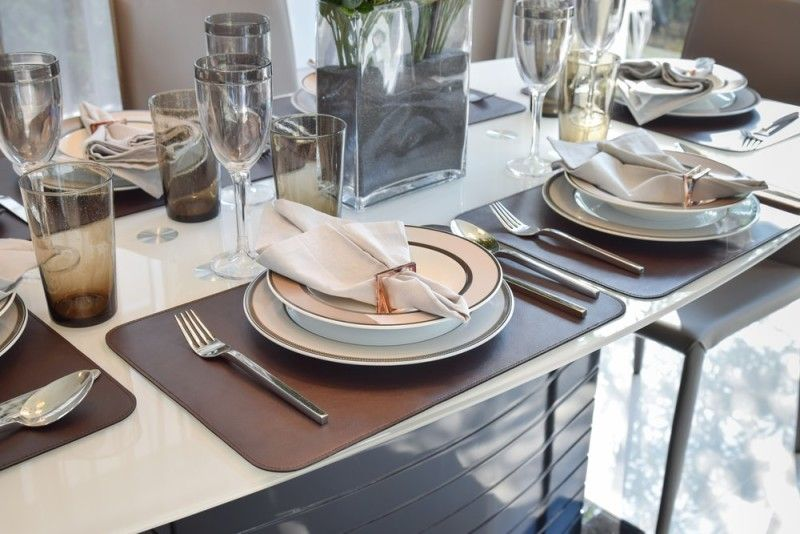 27 Modern Dining Table Setting Ideas | Brown dining table ...