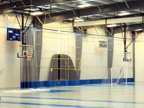 Gym Divider Curtains And Nets Basketball Court Size Basketball