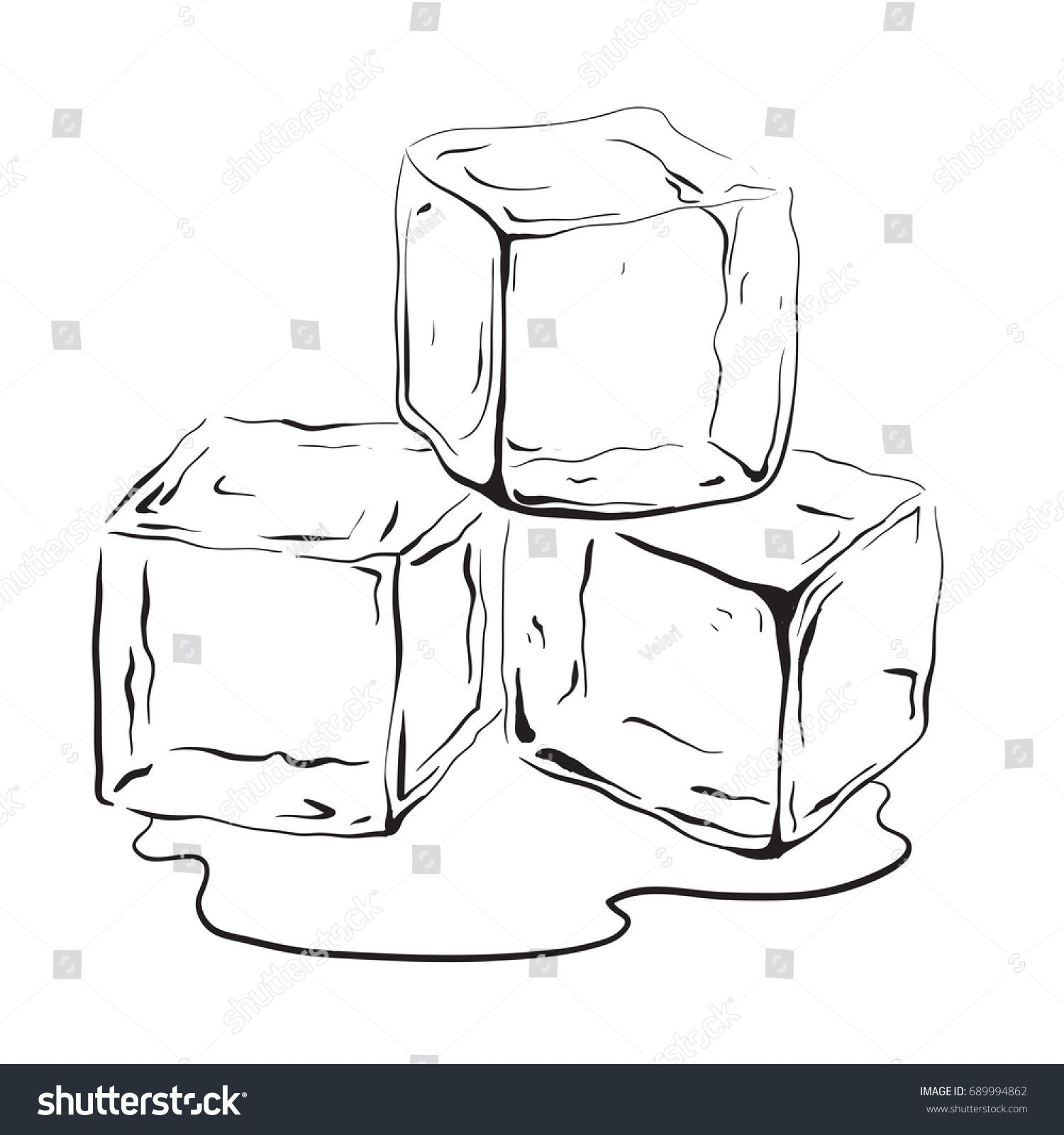 Hand Drawn Ice Cubes Black And White Vector Illustration For Your Creativity Sponsored Ad Ice Cubes Hand Drawn Ice Cube Drawing Ice Cube Ice Drawing