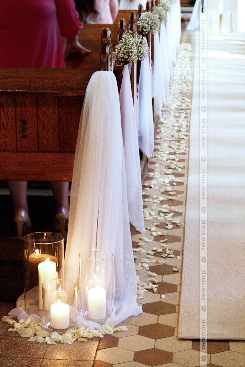 Ślubna dekoracja kościoła w romantycznym stylu – Boda fotos