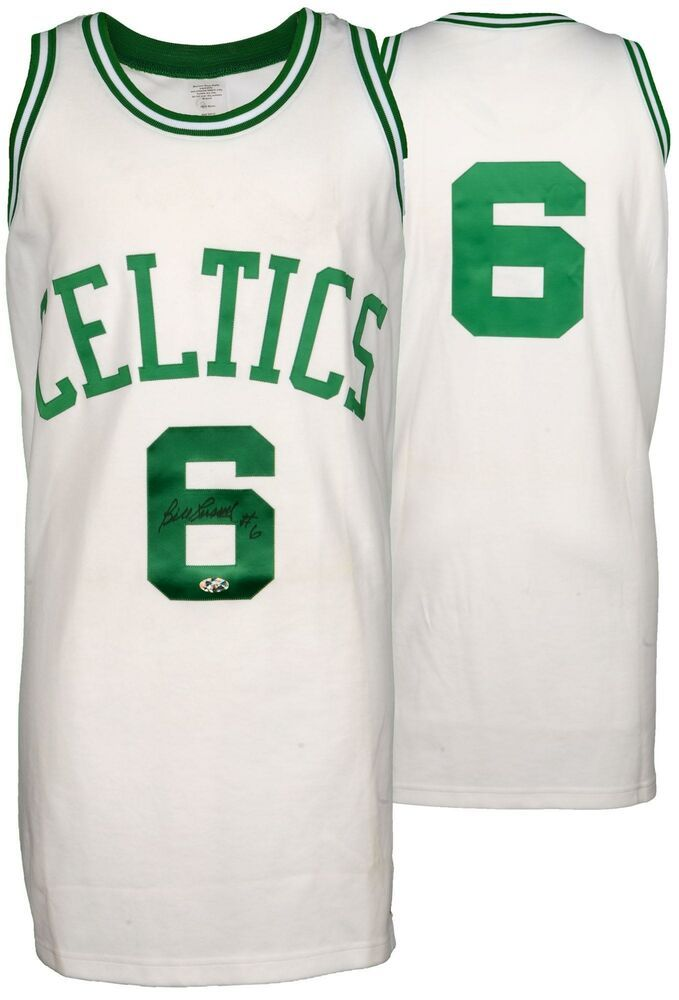 check out 32757 e86cf Bill Russell Signed Jersey - Russell Holo - Player Hologram ...