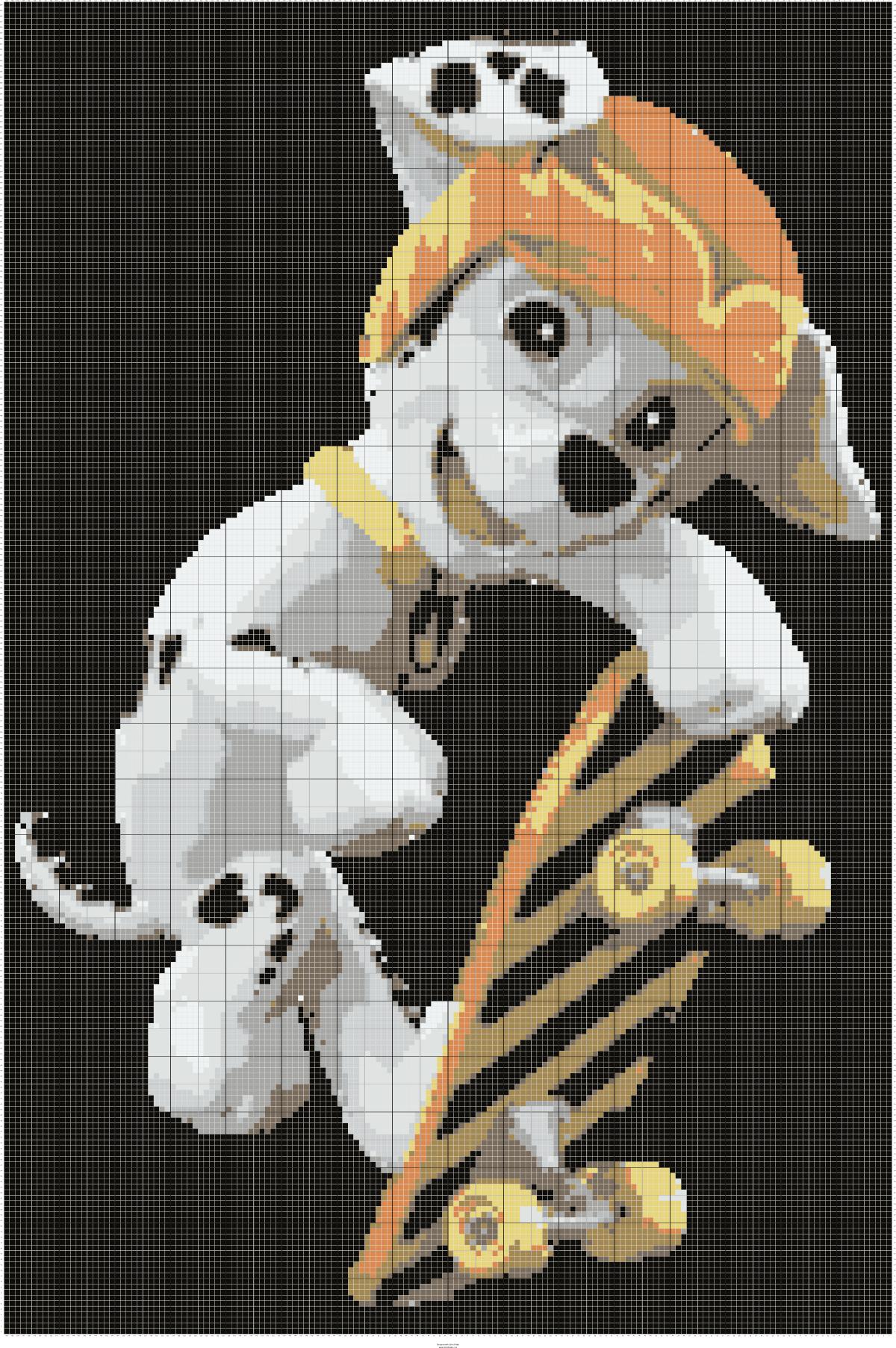 Paw Patrol Marshall On Skateboard C2c Pattern 160x240 Crochet
