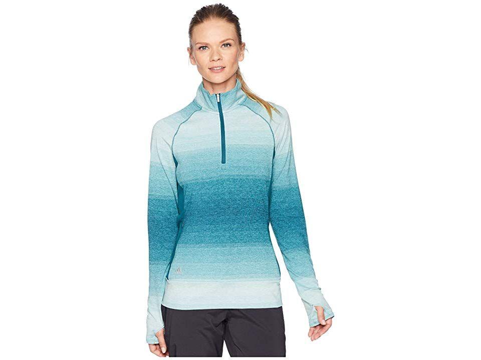 2ed230a5a64 adidas Golf Rangewear 1/2 Zip (Mystery Green) Women's Long Sleeve Pullover.