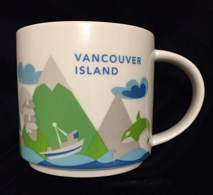 Starbucks Vancouver Island Mug Canada British Columbia Cup YAH You Are Here