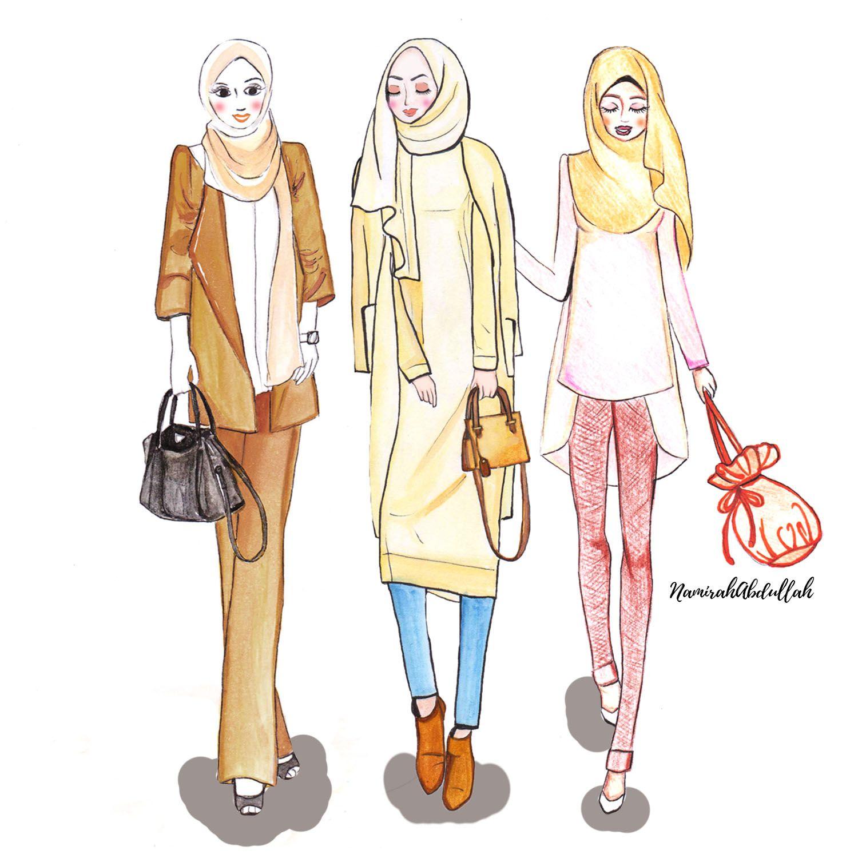 ILLUSTRATION Girls Day Out By Namirah Abdullah