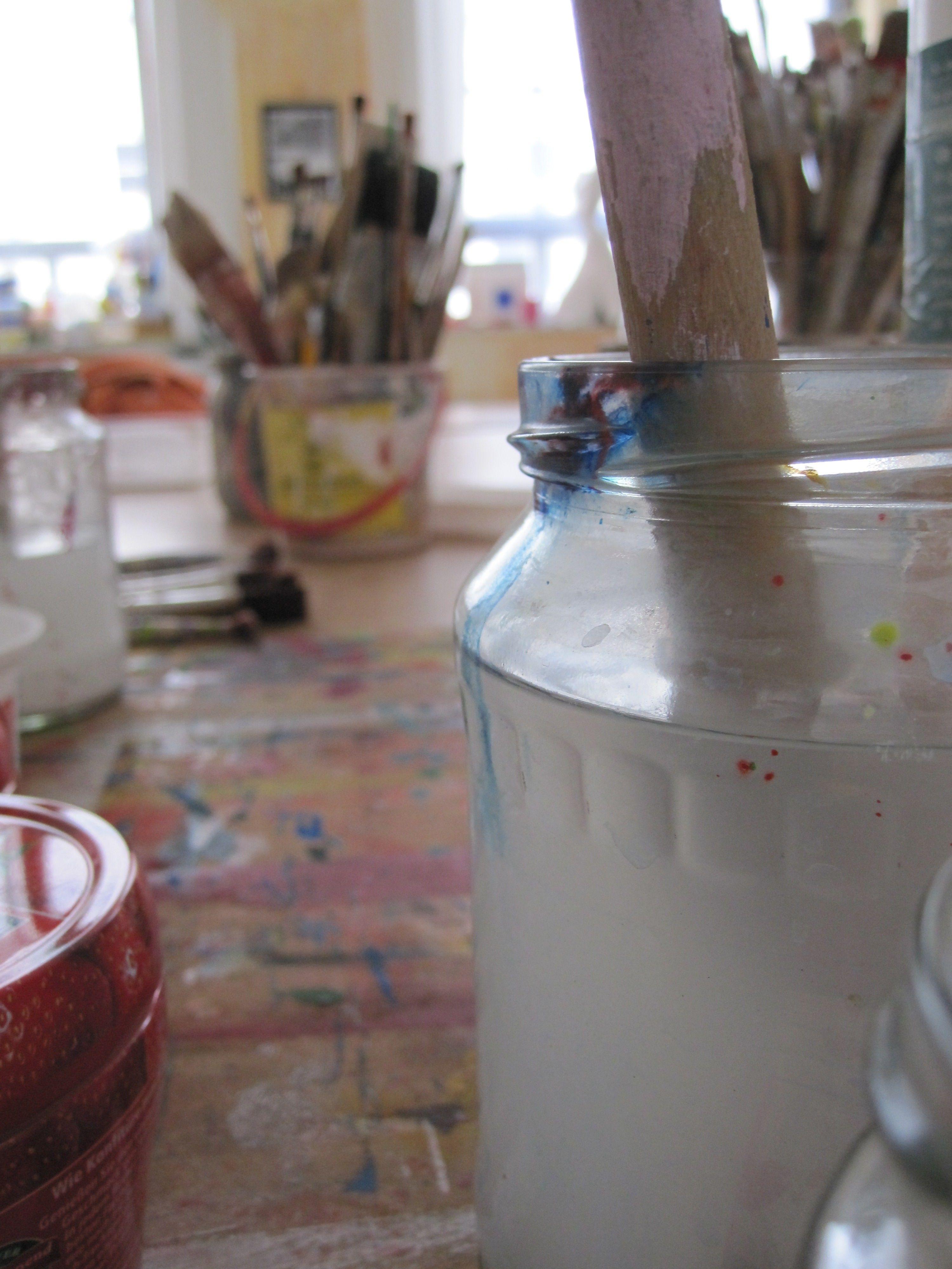 Farben Pigmente Acryl Pinsel