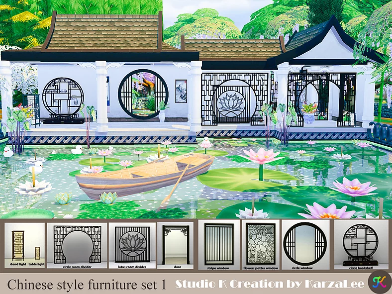 Chinese Style Furniture Set 1 En 2020 Sims Sims 4 Chuches