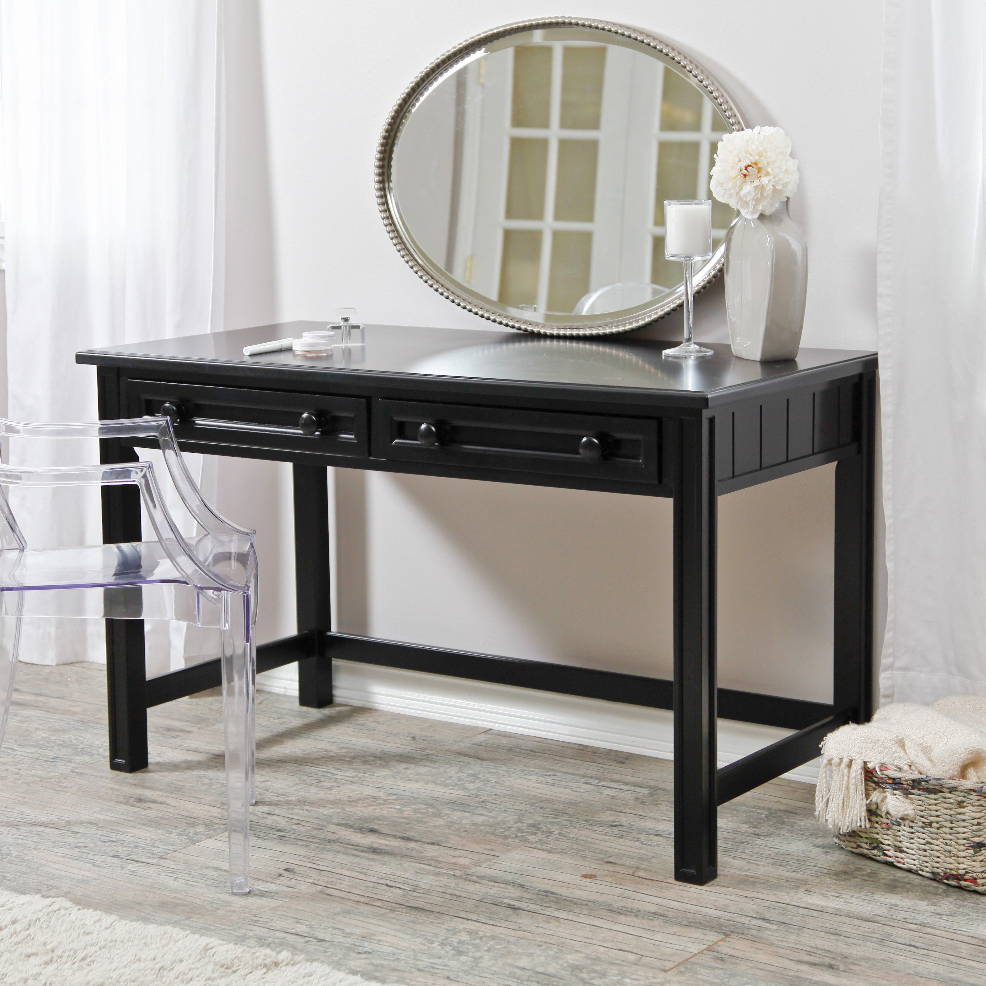 Amazing Casey Black Bedroom Vanity $299.99 Images