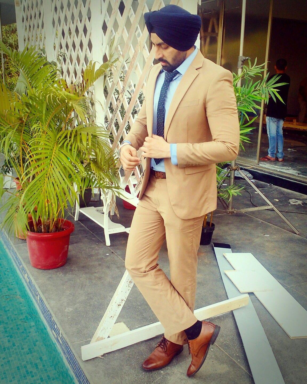 Sikh Model In Suit Blazer Sardarji Looking Dapper Menfashion