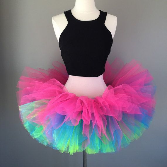 f8651bb12 Neon Adult Tutu Rave Race-5k color by Morningstardesignsmi on Etsy ...