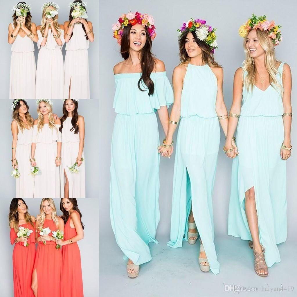 2018 Cheap Bridesmaid Dresses Country Short For Weddings Full Lace ...