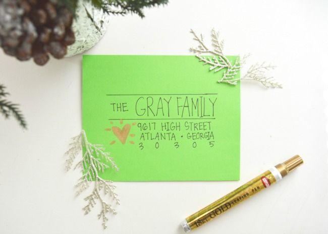 11 creative ways to address christmas cards