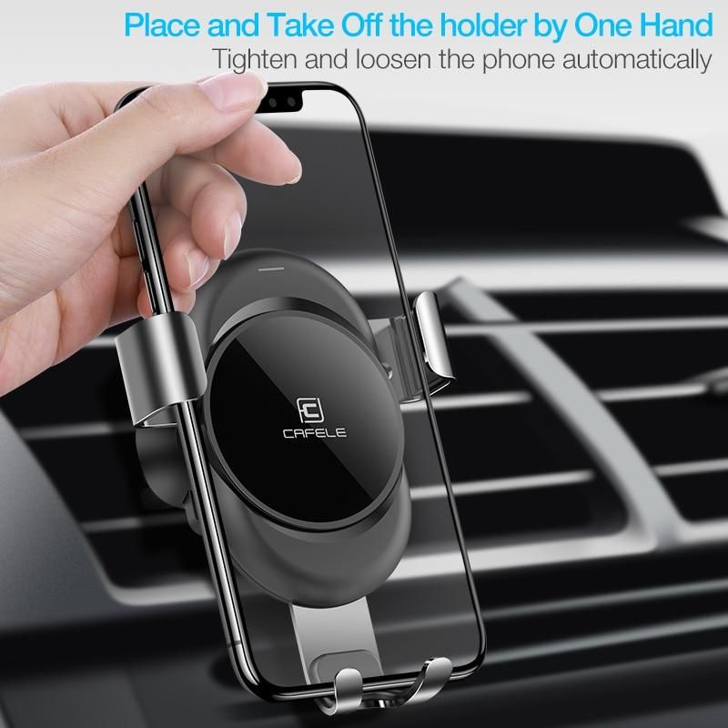By Cafele Car Phone Holder Gravity Automatic Locking Technology