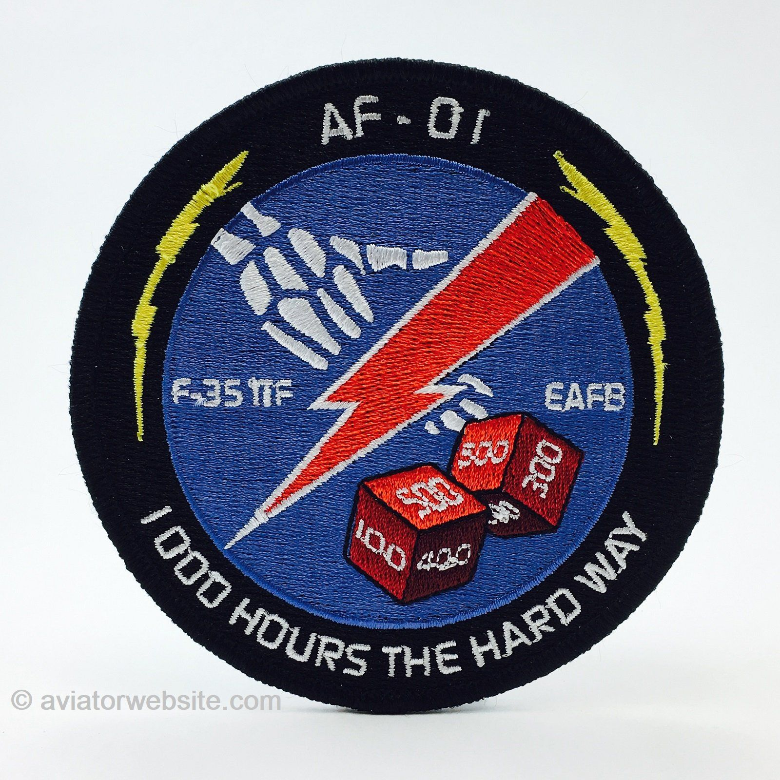 Af 01 First 1000 Hours F 35a Lightning Patch Mp0134 Lightning Patch Patches Lightning