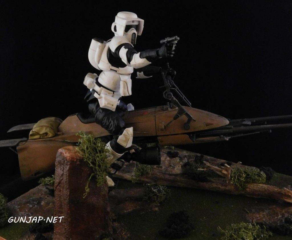 Bandai X Star Wars Diorama 1 12 Scout Trooper And Speeder Bike