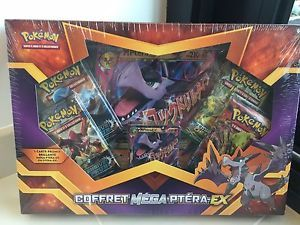 coffret pokemon mega ptera ex neuf sous blister vf