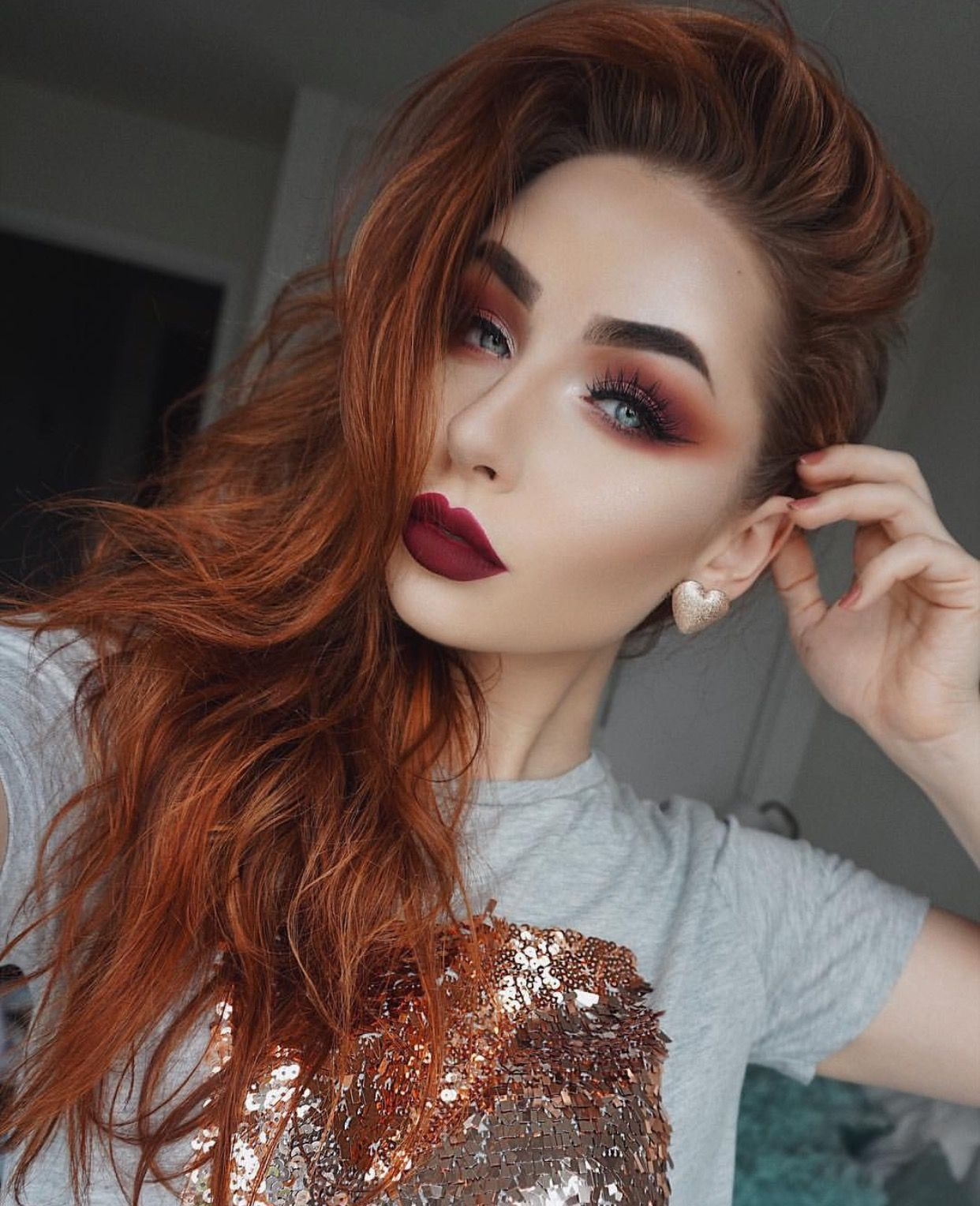 Pin By Marisol Meza On Make Up Red Hair Makeup Red Hair Blue Eyes Redhead Makeup