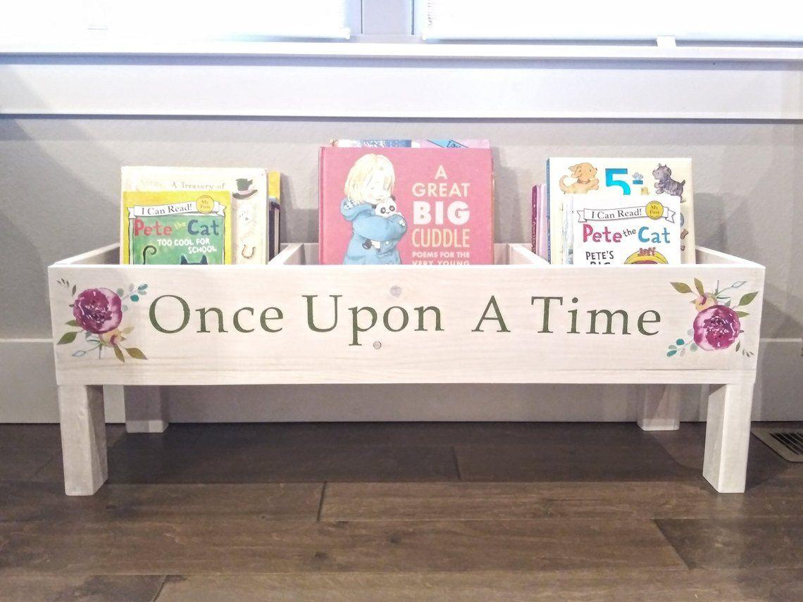 Bookshelf Baby Nursery Bookcase Book Bin Kids Storage Etsy Nursery Bookcase Storage Kids Room Bookshelves Kids