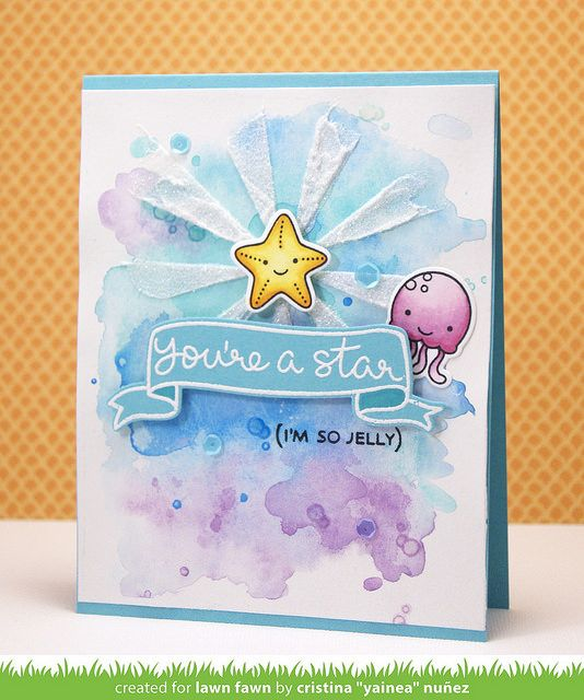 So Jelly  Lawn Fawn June release week (My paper journey) is part of lawn Fawn Fintastic - Hi there!! I hope you're enjoying your weekend! Lawn Fawn release week continues today with the feature of a new mini stamp set and coordinating dies, So Jelly, and this one is too adorable!! I LOVE t
