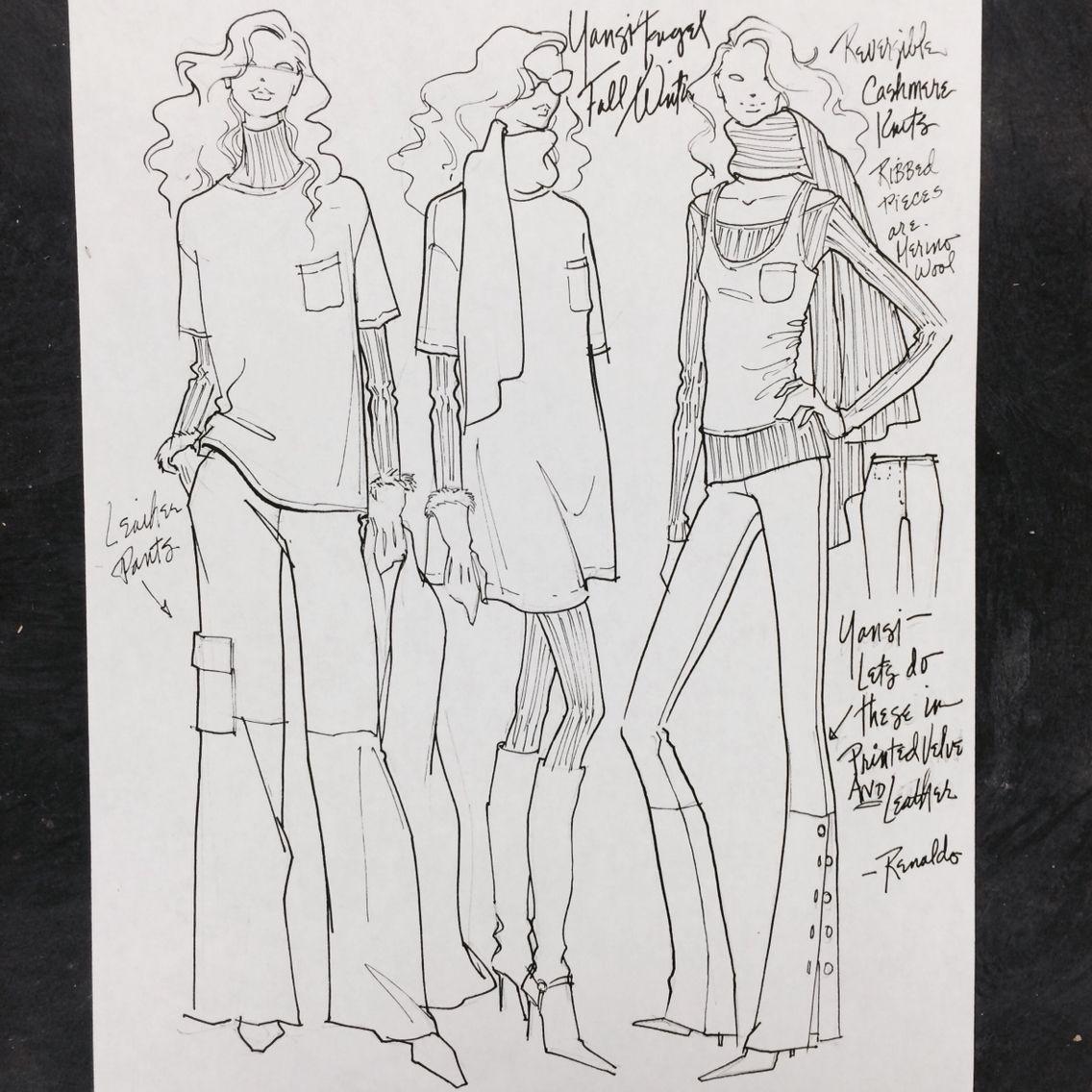 Design Sketches when I was Design Director at Yansi Fugel