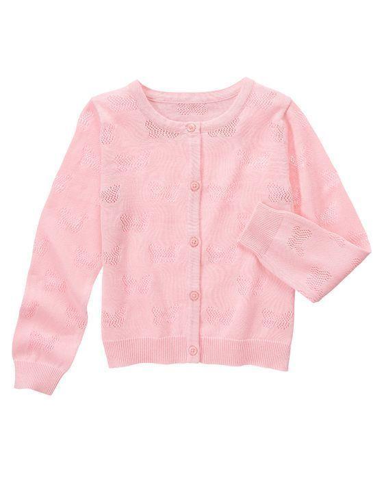 NWT Gymboree ISLAND HOPPER Girls Petal Pink Butterfly Cardigan Sweater Size 7-8  #Gymboree #Cardigan #EasterDressyEverydayHolidayPartyWedding