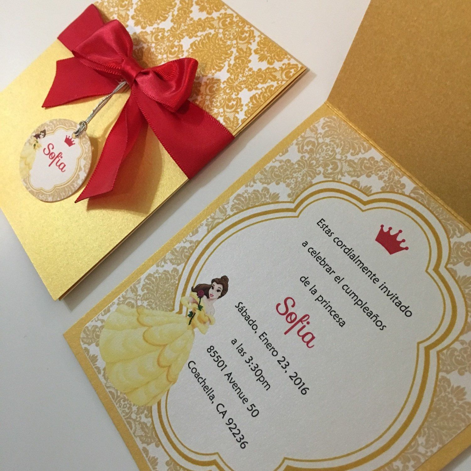 Beauty and the Beast Party Invitations - Beauty and the Beast ...
