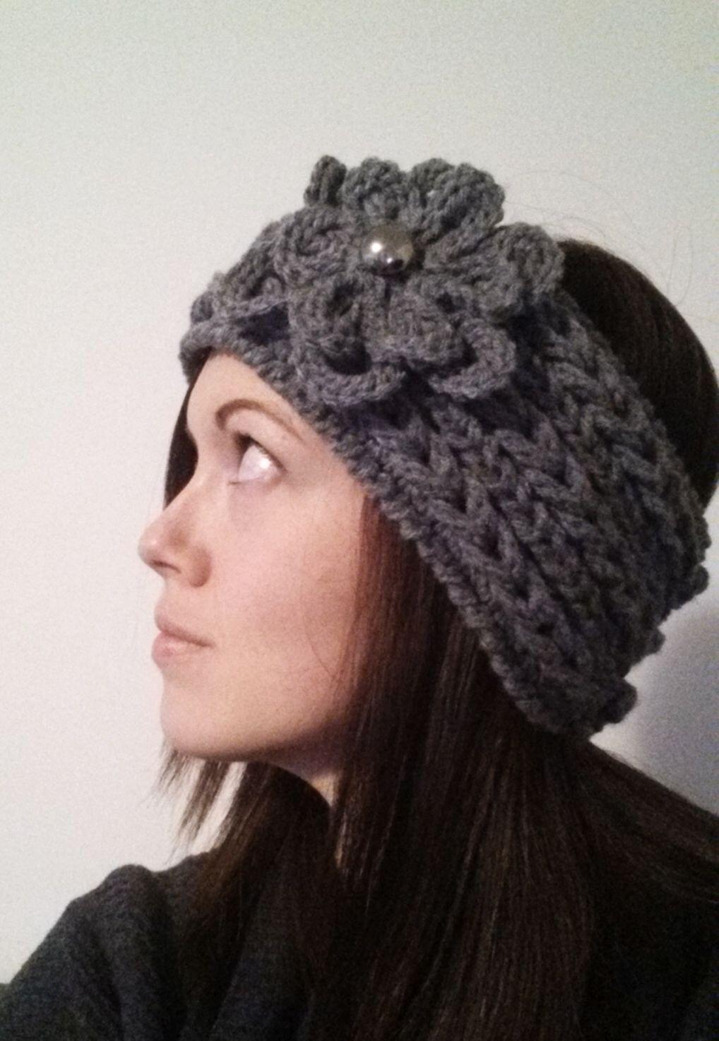 Winter Weave Crochet Headband Pattern Textured Braided Flower ...