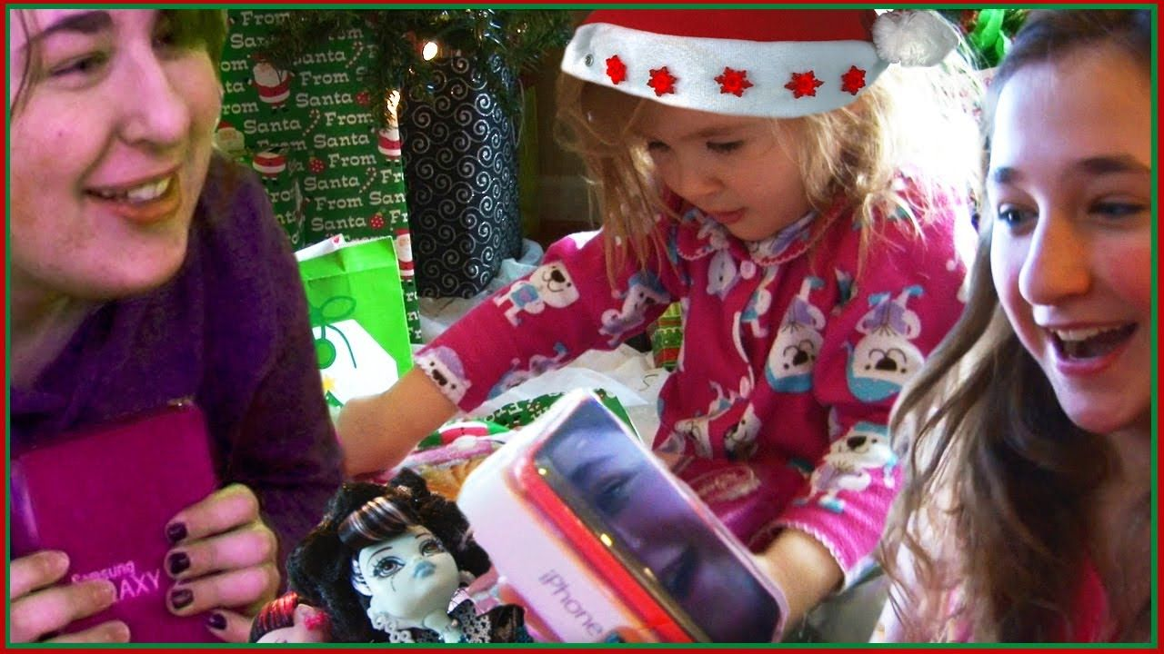 Kids Opening Christmas Presents - Monster High Gifts - iPhone ...
