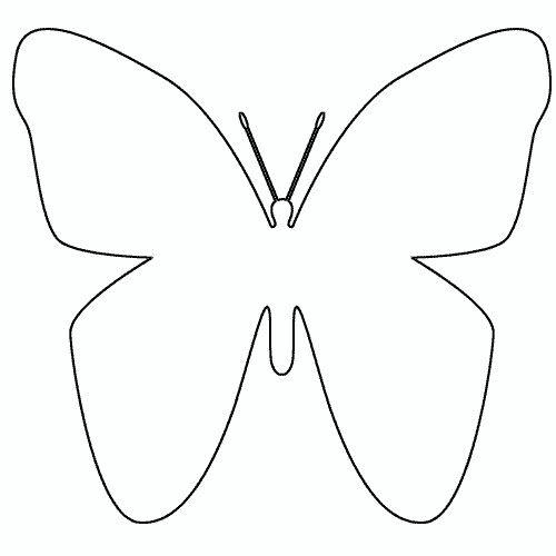Papillon gabarit papillon en plastique art template diy butterfly et picture templates - Silhouette papillon imprimer ...