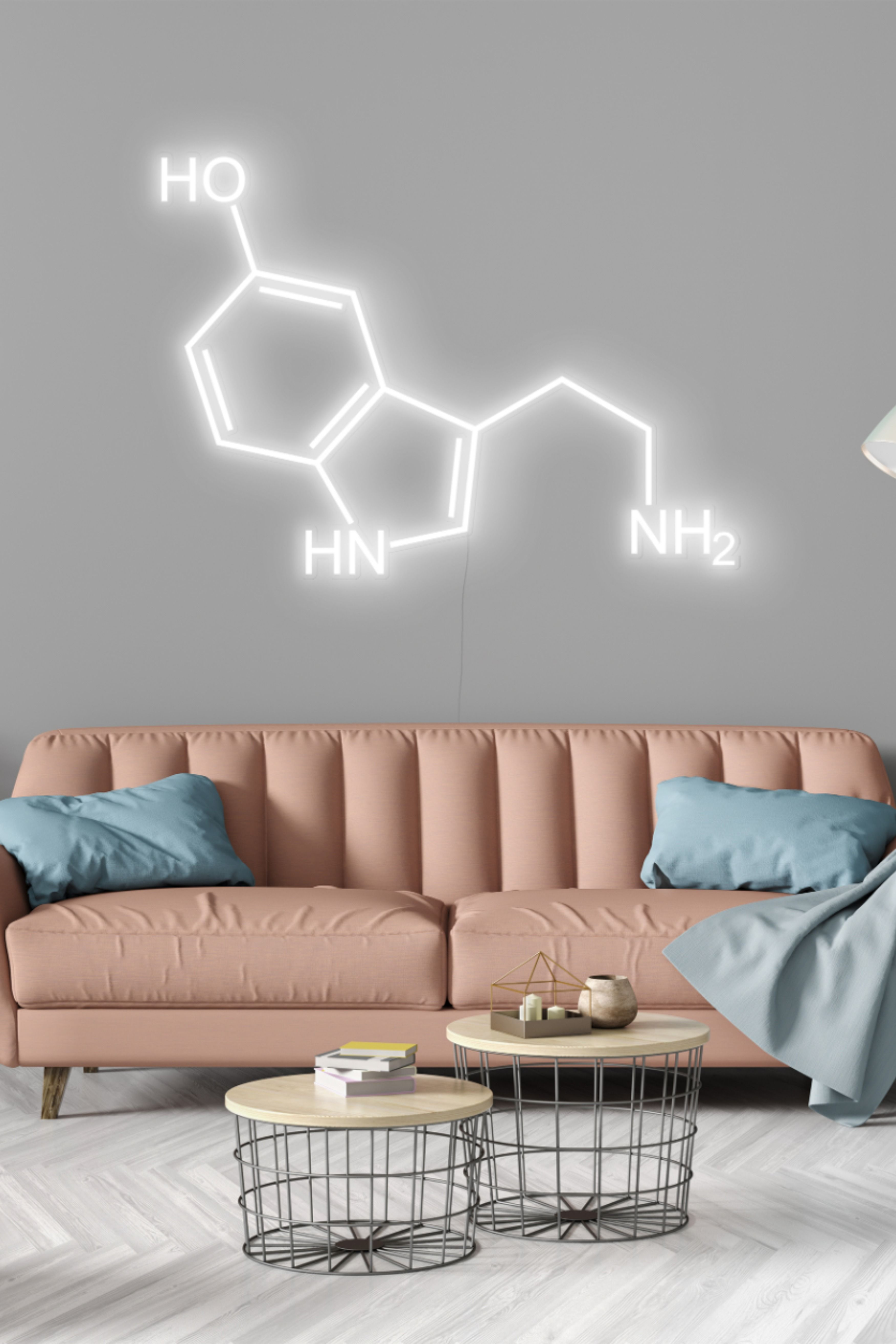 Serotonin Neon Sign In 2020 Decor Led Lighting Home Home #neon #sign #living #room