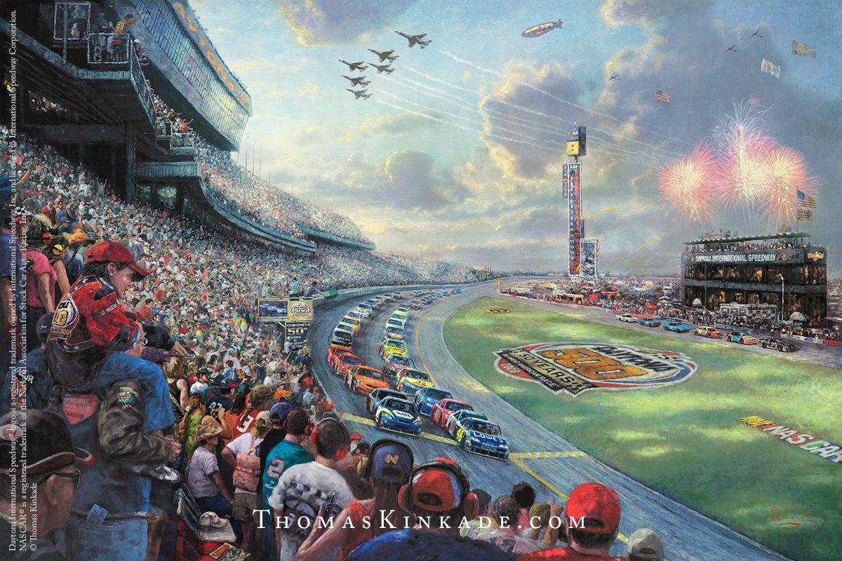 NASCAR Thunder Thomas kinkade paintings, Thomas kinkade