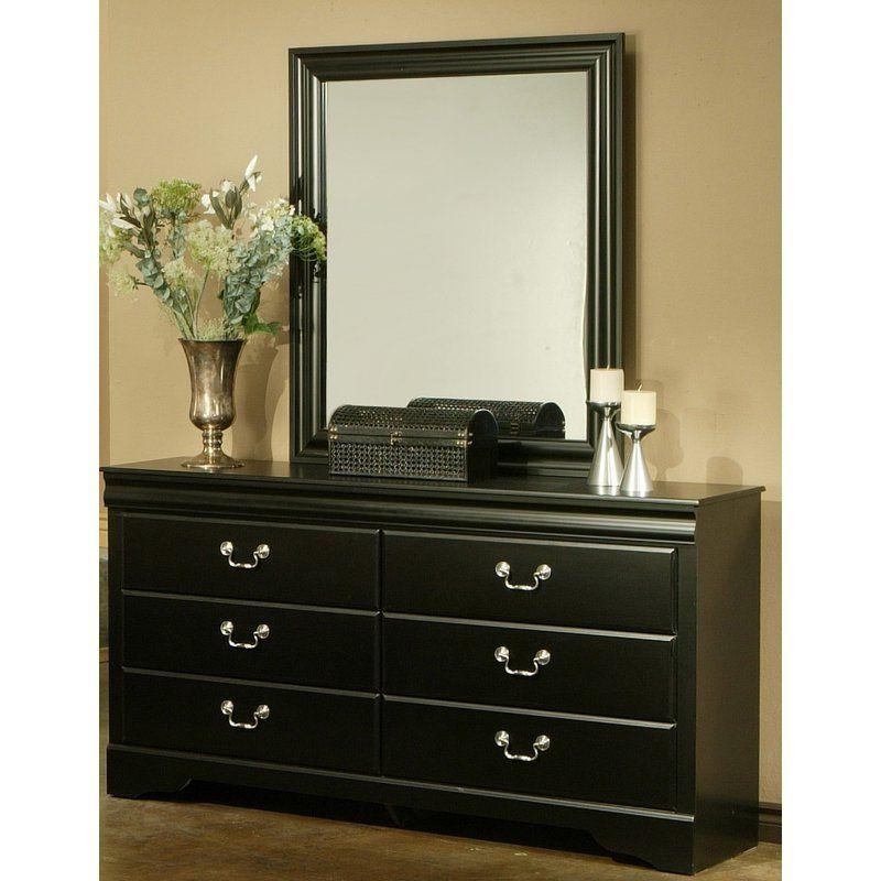 Sandberg Furniture Regency Bedroom Set: Sandberg Furniture Regency 6 Drawer Dresser With Optional