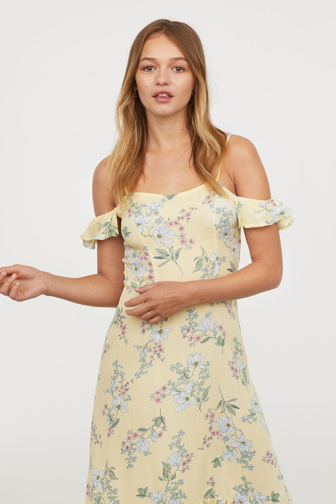 b28cec5d377b Cold shoulder-klänning | hm | Dresses, Fashion, Cold shoulder dress