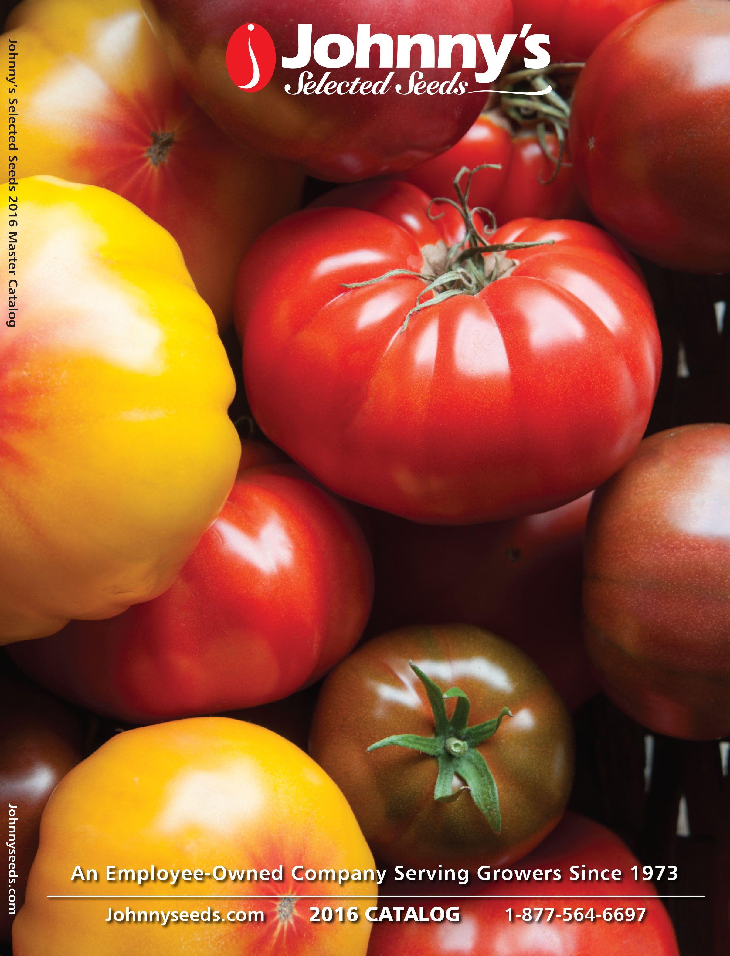 Johnnys selected seeds 2016 organic seeds heirloom seeds