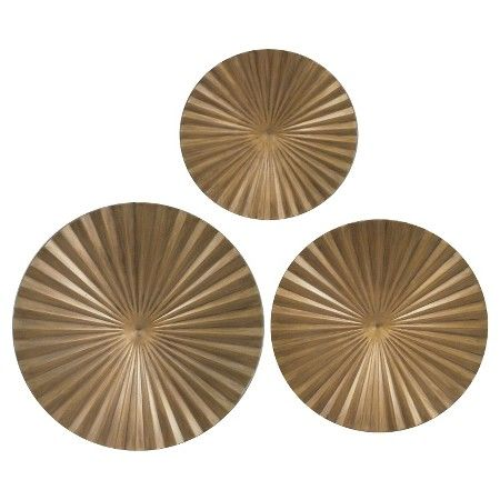 Guest Bath Gold Metal Radial Wall Decor 30x30