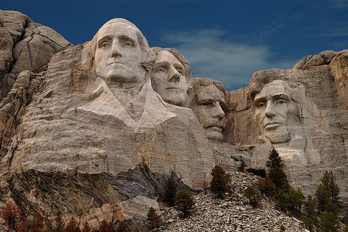 Mt Rushmore  South Dakota.  Been there!  Pretty cool, and I was so surprised at how beautiful the Black Hills area is!