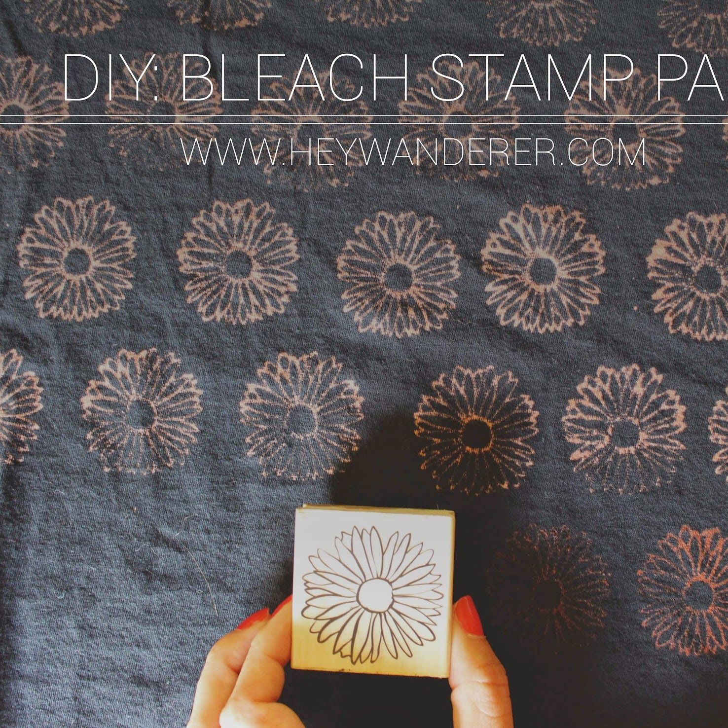 diy: bleach stamp pad #fabricstamping