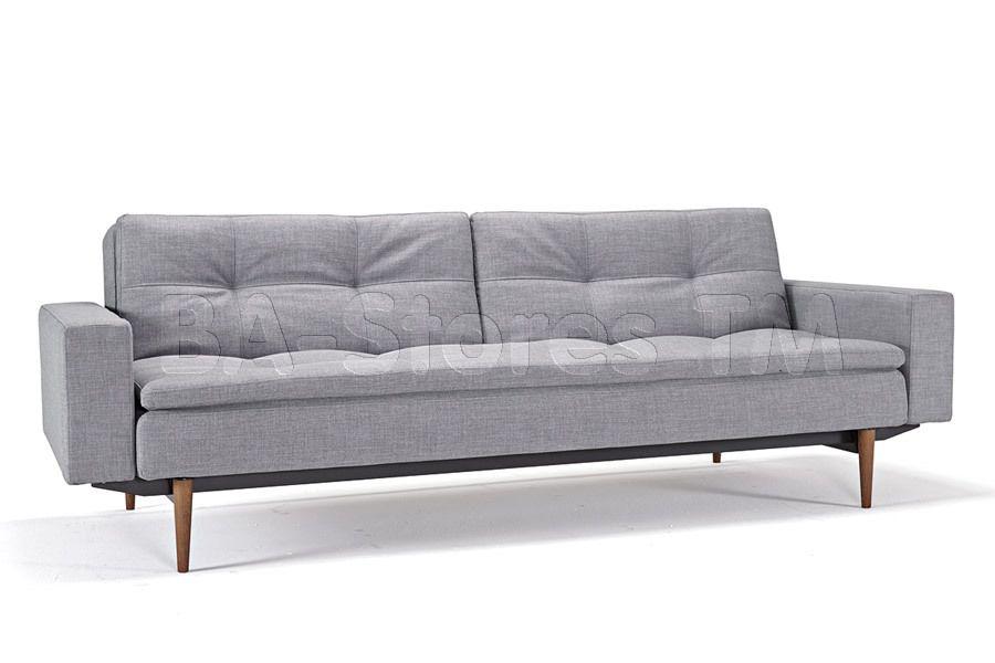 Dublexo Deluxe Sofa Bed Arms In Dark Wood Legs By Innovation Modern Furniture Living Room Modern Sofa Sectional Modern Sleeper Sofa