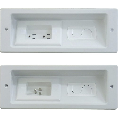 In Wall Outlet And Cable Organization For Flat Screen Tv S Wall Mounted Tv Cable Management Wall
