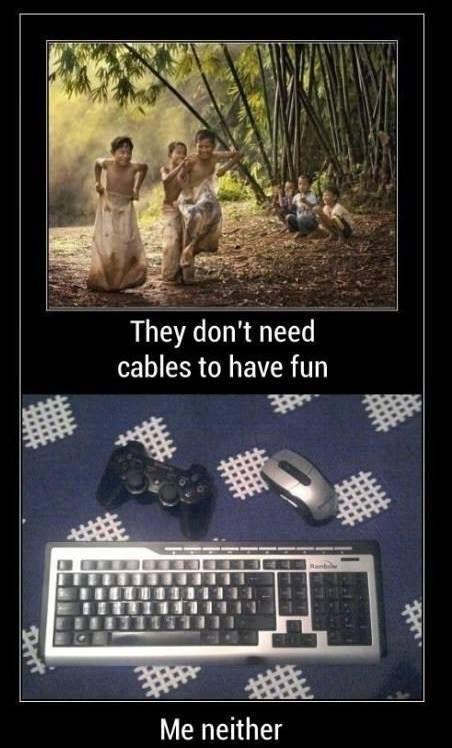 No cables