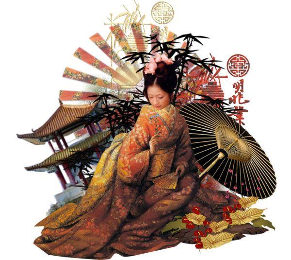 """geisha II"" by dewgirl007 ❤ liked on Polyvore"